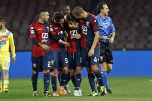 @Tanopress Napoli - Stadio San Paolo Campionato Serie A 2013/2014 Napoli - Genoa Nella foto  l'esultanza di Calaiò